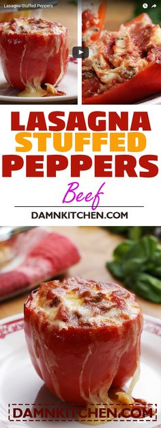 APPETIZERS Lasagna-Stuffed Peppers