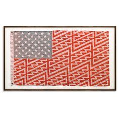Crazy-beautiful America. Hand-sewn flag and regram courtesy of @faileart