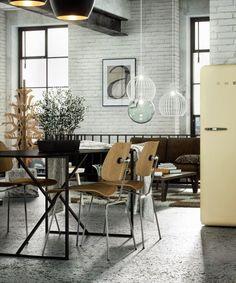 Virlova Interiorismo: [Projects] Cocina y salón integrados a modo de loft industrial en gama de neutros