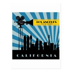 #Los Angeles California tourist travel postcard - #travel #trip #journey #tour #voyage #vacationtrip #vaction #traveling #travelling #gifts #giftideas #idea