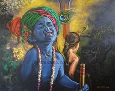 little Krishna is loved by everyone. Baby Krishna, Radha Krishna Holi, Little Krishna, Cute Krishna, Krishna Art, Radhe Krishna, Ganesha Art, Hanuman, Shree Krishna Wallpapers