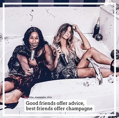 #champagnequote Champagne Quotes, Besties, Girlfriends, Lifestyle, Dresses, Fashion, Vestidos, Moda, Fashion Styles