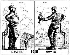 Oklahoma/Oklahoma A&M cartoon 1918