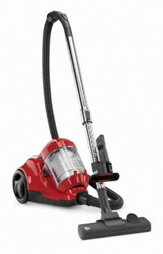 Dirt Devil FeatherLite Cyclonic Canister Vacuum, SD40100 -     Single stage cyclonic filtration for added level of dirt separation   The Dirt Devil Featherlite provides advanced cyclonic performance in a versatile compact cleaner. For those with hard