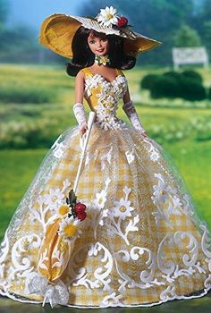 Amazon.com: Enchanted Seasons Collection Limited Edition Summer Splendor Barbie Second in Series: Toys & Games