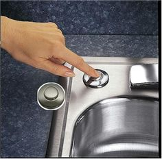 Garbage Disposal Button. InSinkErator STC SN Sink Top Switch Button Only,  Satin Nickel At PlumberSurplus.com