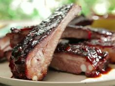 Make this Bobby Flay original BBQ Ribs with Root Beer BBQ Sauce recipe. Get more BBQ recipes here>> www. Ribs On Grill, Bbq Ribs, Root Beer Bbq Sauce Recipe, Bobby Flay Recipes, Tomato Relish, Best Bbq, Food Shows, Sauce Recipes, Beer Recipes