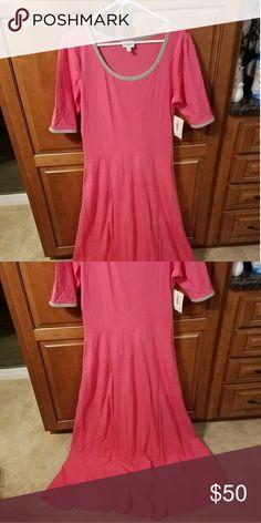 lularoe Ana dress pink with grey trim lularoe Ana dress size extra large never worn with tags LuLaRoe Dresses
