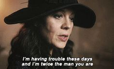 Always trying to keep her family intact no matter what the cost! Aunt Polly Peaky Blinders, Movies Showing, Movies And Tv Shows, Series Movies, Tv Series, Peaky Blinders Quotes, Red Right Hand, Fictional Heroes, Dumb Questions