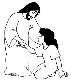 28 Jairus Daughter Coloring Page Sunday School Kids, Sunday School Activities, Fish Coloring Page, Adult Coloring Pages, Jairus Daughter, Koi Fish Colors, Captain America Coloring Pages, Jesus Drawings, Jesus Heals