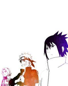 Naruto Shippuden team 7 Sakura Naruto Sasuke by PapillonPosters