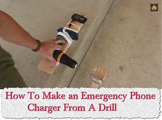 How To Make an Emergency Phone Charger From A Drill