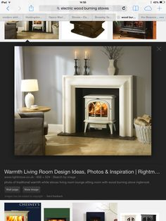 photo of colour traditional warmth grey white stovax living room lounge sitting room with wood burning stove inglenook log burner wood burne. Living Room Lounge, Living Room White, White Rooms, Living Room Decor, Living Rooms, Grey Fireplace, Dining Room Fireplace, Fireplace Surrounds, Fireplace Logs