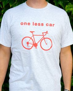 Reflective Bicycle Tshirt  One Less Car  A campaign by BikeRags, $18.00