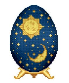 Sun and Moon Easter Egg by Solaria Gallery