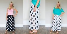 Polka Dot Chiffon Skirt – BLOWOUT!! | Jane