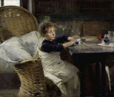 Helene Schjerfbeck: Toipilas, 1888. The Convalescent won the bronze medal at the 1889 Paris World Fair.