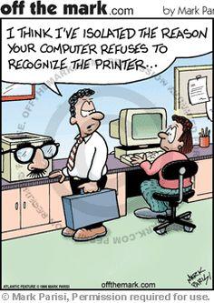 Printer humor.