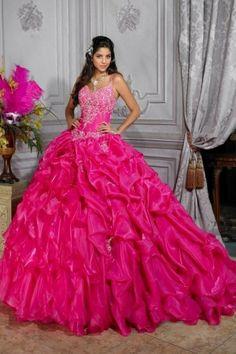 Beading Hot Pink Quinceanera Dresses Quinceanera Dresses