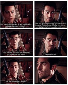 Teen Wolf - Stiles & Derek. haha sounds like me and my friend
