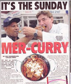 I used to write a recipe column for the Sunday Mercury for 5 years.  I'm Kevin Ashton (the guy on the right).