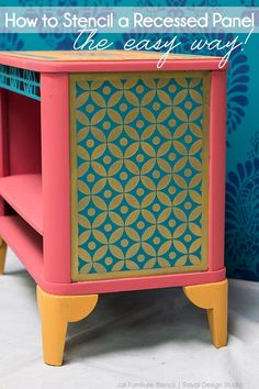 How to Stencil a Recessed Furniture Panel: the Easy Way! | Royal Design Studio
