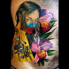 Cattleya Trianae Tattoo Pin cattleya trianae tattoo de la son on ...