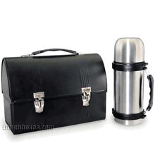 Now back in stock, the Classic Construction Worker Lunch Box with a stainless steel thermos.