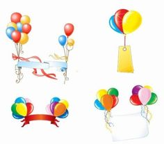 Beautiful Party Balloons Vector Free vector in Encapsulated ...