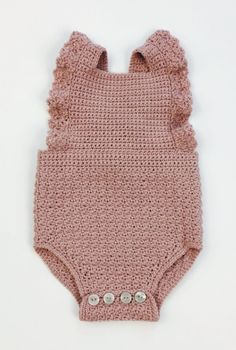 Hand Crocheted Organic Cotton Romper | jharlowandco on Etsy