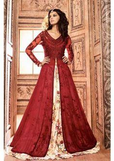Red Silk Anarkali Suit, - £119.00, #SepcialDresses #Shopkund #ShopNow #FashionUK
