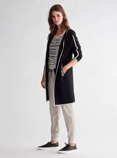 Brand Collection, Black Cardigan, Duster Coat, Normcore, Black And White, Jackets, Shopping, Summer, Design