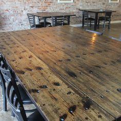Wellsmade Ann Marie Tables; Rustic Industrial Furniture