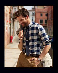 J.Crew Vintage oxford shirt in navy gingham. J. Crew Renaissance at Colony Park 601.856.8104 #shoprenaissance