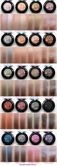 Mac Single Eyeshadow, Mac Eyeshadow Swatches, Foil Eyeshadow, Mac Eye Makeup, Beauty Makeup, Drugstore Beauty, Mac Lips, Hard Candy Makeup, Eye Shadows