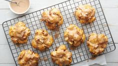 The best kinds of treats are the ones you can eat for both breakfast and dessert. These fall-flavored fritters start with cut-up biscuits tossed with pecans, pumpkin and spice, and end with a sweet pumpkin glaze.