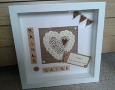 SCRABBLE ART PERSONALISED RUSTIC ENGAGEMENT FRAME PICTURE WEDDING GIFT KEEPSAKE in Crafts, Hand-Crafted Items   eBay