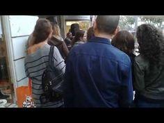 A little street party on rainy Jaffa street, Jerusalem Israel - YouTube