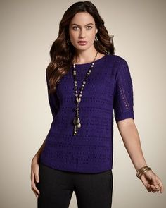 #Chico's #Women's 78% off Gala Pointelle Pullover - Chico's. Like this deal? Find more on DealsAlbum.com.