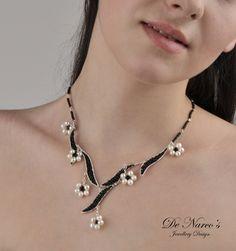 ''Fleur de Perles'' Neclace   JewelryLessons.com
