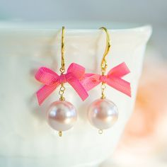 Pink earrings - Aretes rosados