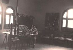 El pintor Fidel Trias Pagès a la sacristia de la parroquia de sant oleguer sabadell - Cerca amb Google