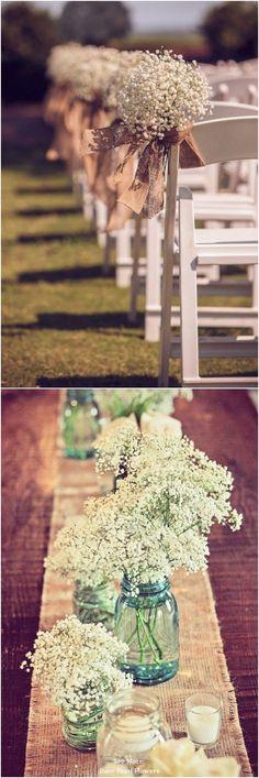 68 Baby's Breath Wedding Ideas for Rustic Weddings Wedding Ceremony Ideas, Wedding Reception Lighting, Wedding Themes, Wedding Tips, Wedding Table, Our Wedding, Wedding Planning, Dream Wedding, Trendy Wedding