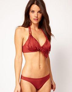 ASOS Fringed Fuller Bust Plunge Bikini