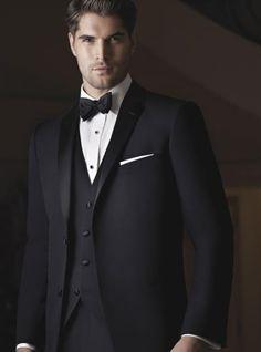 Shop men's designer tuxedos including brands such as Calvin Klein, Ralph Lauren, and Ike Behar at Perfect Tux. Tuxedo Wedding, Wedding Suits, Wedding Attire, Groom Attire, Groom And Groomsmen, Groom Tuxedo, Mens Designer Tuxedos, Tuxedo Shop, Smoking