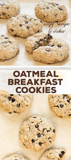 Easy gluten free oatmeal breakfast cookies are sweetened only with honey and a bit of applesauce. The perfect make-ahead breakfast for a family on the go!