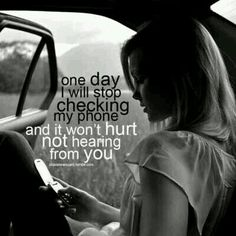 One day i will stop caring  about you.