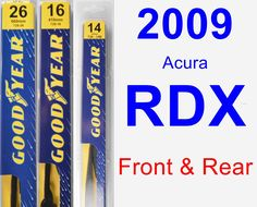 Front & Rear Wiper Blade Pack for 2009 Acura RDX - Premium
