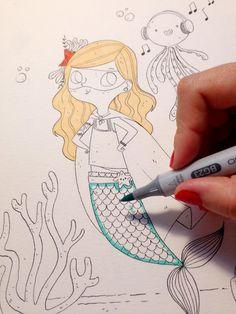 Lydia Sánchez || Illustration: ILLUSTRATION WITH COPIC
