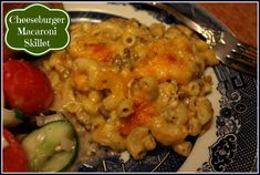 """This """"Cheeseburger Macaroni Skillet"""" is one of those recipes you only have to use one skillet to make, so clean up is a breeze! This i..."""